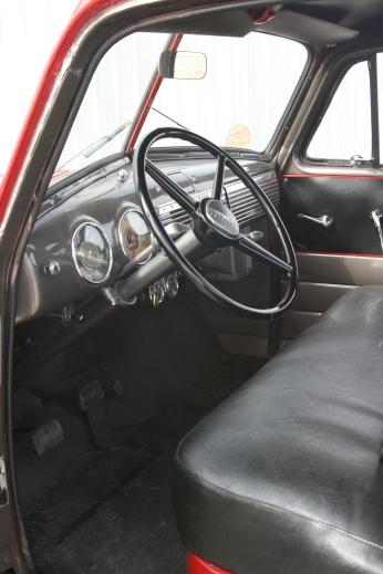 Inside cab.